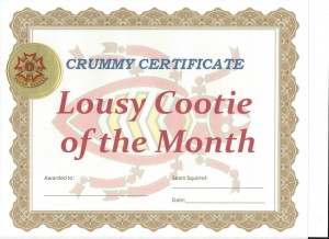 cootie of the month